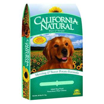 bag of california natural dog food